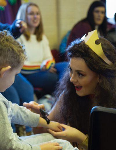 Princess party talk with wonder womankent