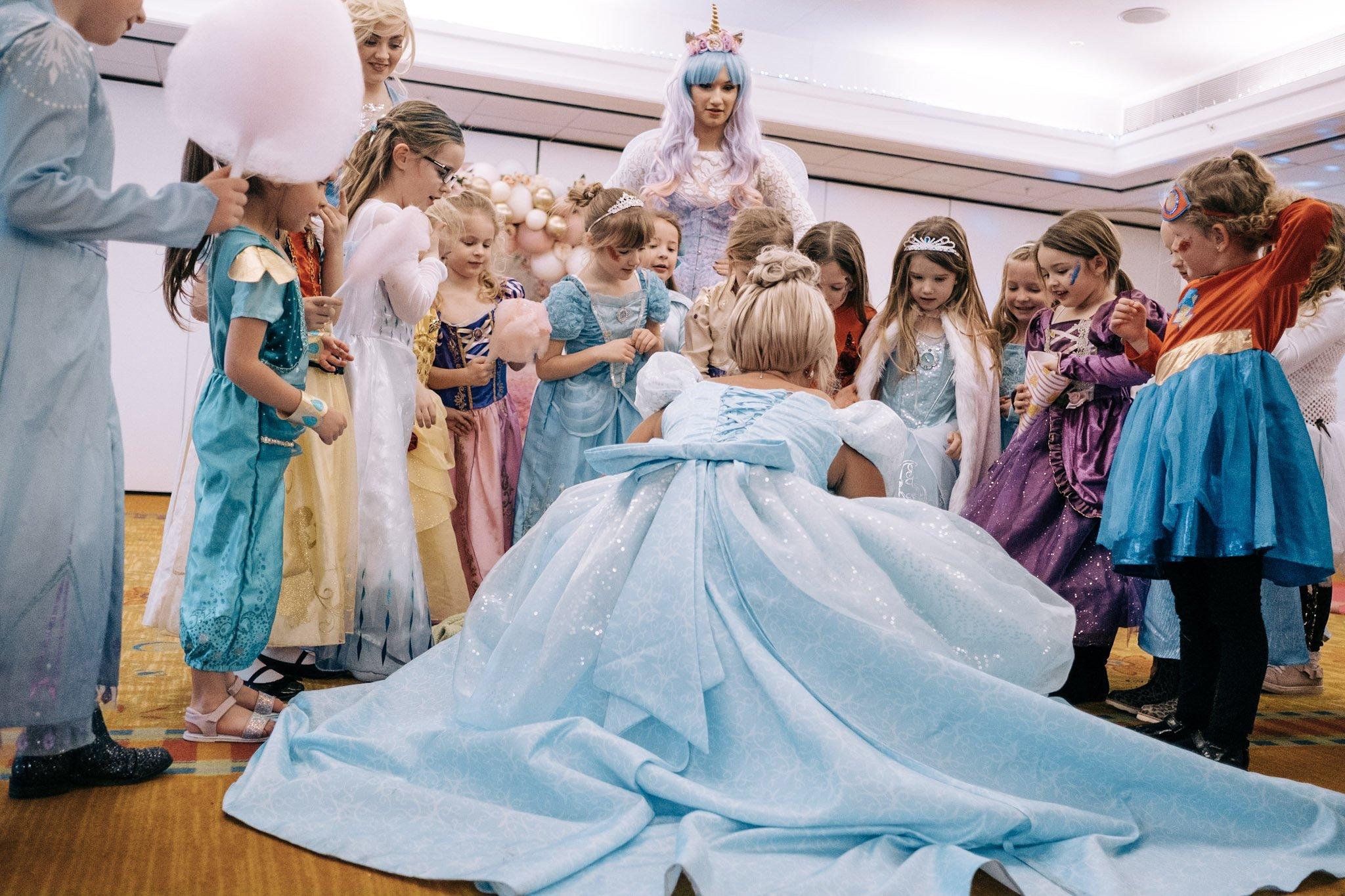 Princess party singing and dancing kent