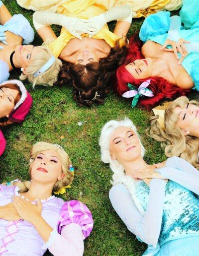 Princess party lie down kent