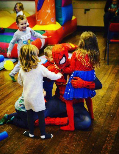 spiderman kids parties surrey